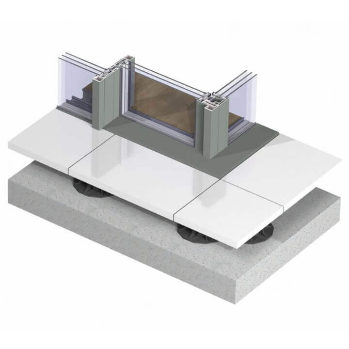 hi-finity_without gutter_triple glazing_corner solution_3d_topview